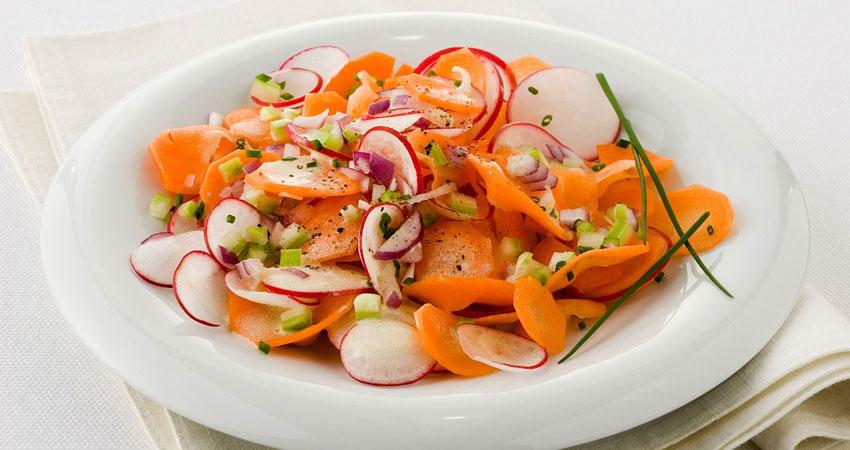 ricette dell'agro pontino con ravanelli e carote